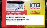 Perdana data indosat 10gb ( 3gb + 3 gb + 4gb ) kuota 10 gb