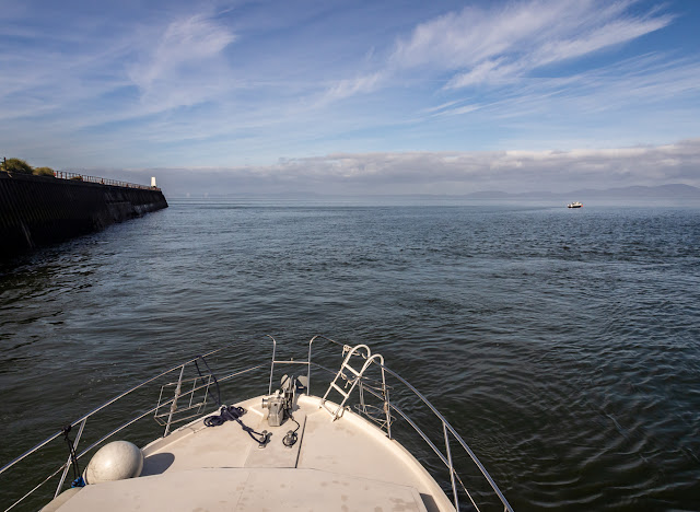 Photo of Ravensdale heading out onto the Solway Firth at Maryport in Cumbria, UK