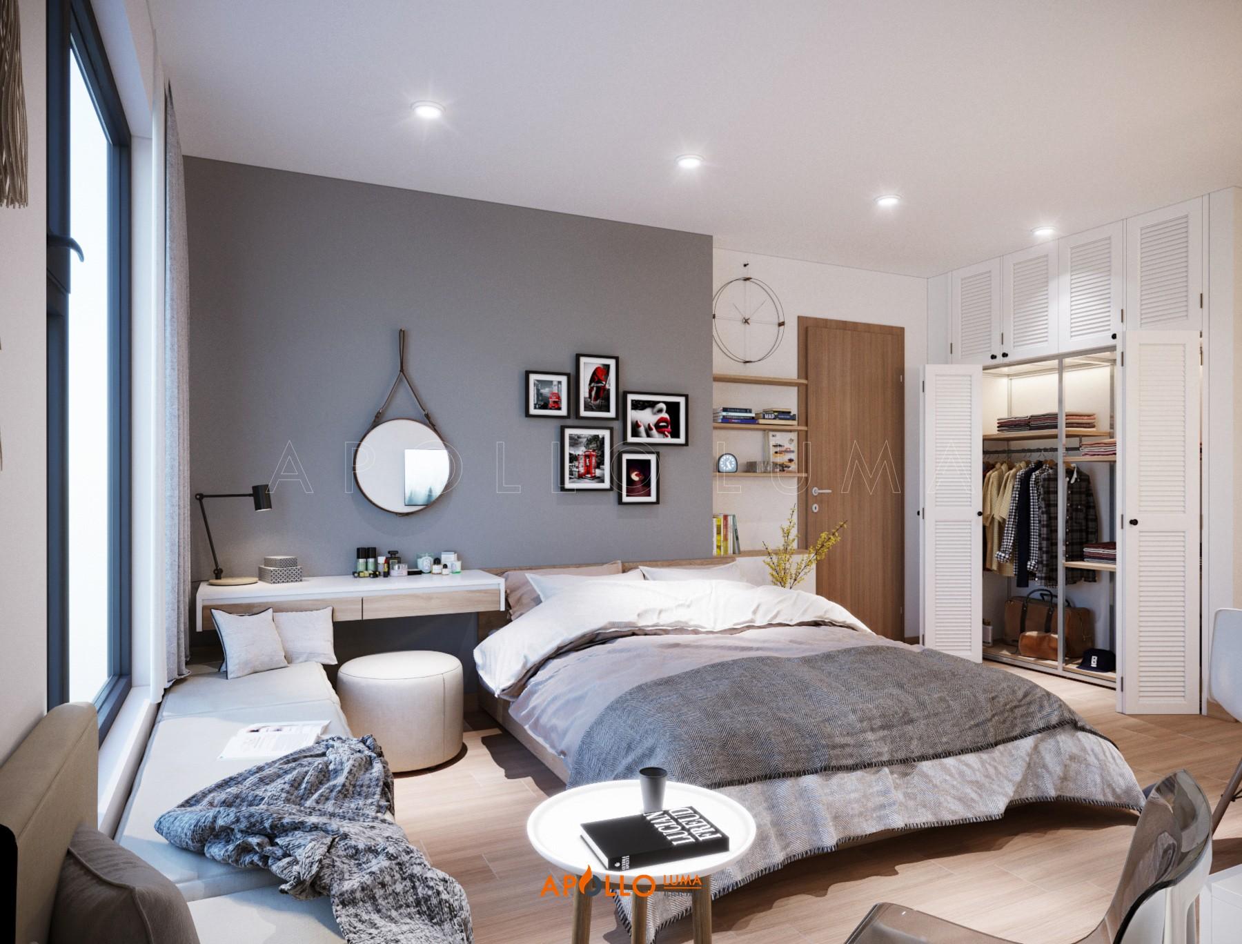 Thiết kế nội thất căn hộ Studio Vinhomes Ocean Park Gia Lâm