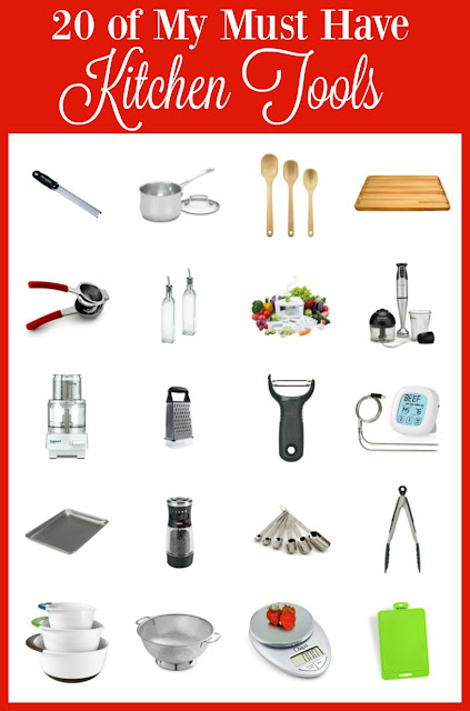 20 of My Must Have Kitchen Tools and Gadgets. Perfect for Mother's Day gift for the foodie Mom in your life www.bobbiskozykitchen.com