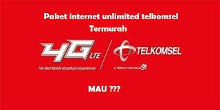 cara daftar paket internet telkomsel unlimited tanpa kuota dengan harga termurah