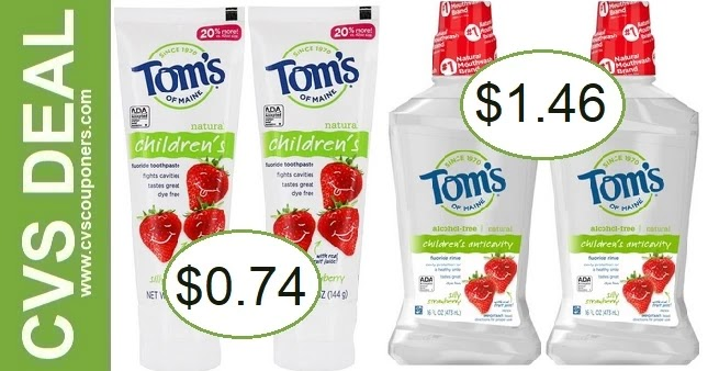 Tom's of Maine Toothpaste CVS Deal 9-5-9-11
