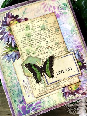 Sara Emily Barker https://sarascloset1.blogspot.com/2020/08/a-stenciled-mum-card-for-mom.html #stampersanonymous Mixed Media Card 4