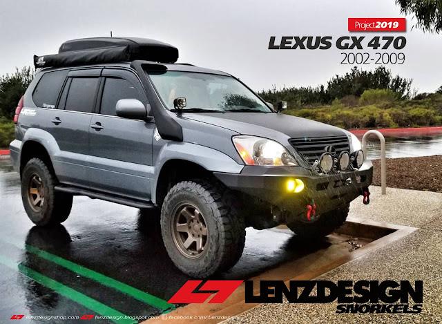 Lexus GX 470 - Toyota Land Cruiser Prado 120 Snorkel Kit Lenzdesign