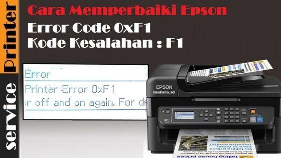 Kode Error 0xf1 Printer Epson