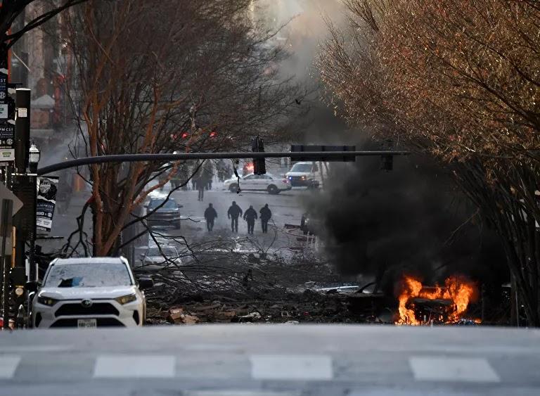 """أمريكا تؤكد أن انفجار ناشفيل """"متعمد""""... أردوغان يعلن رغبة بلاده في إقامة علاقات مع إسرائيل"""