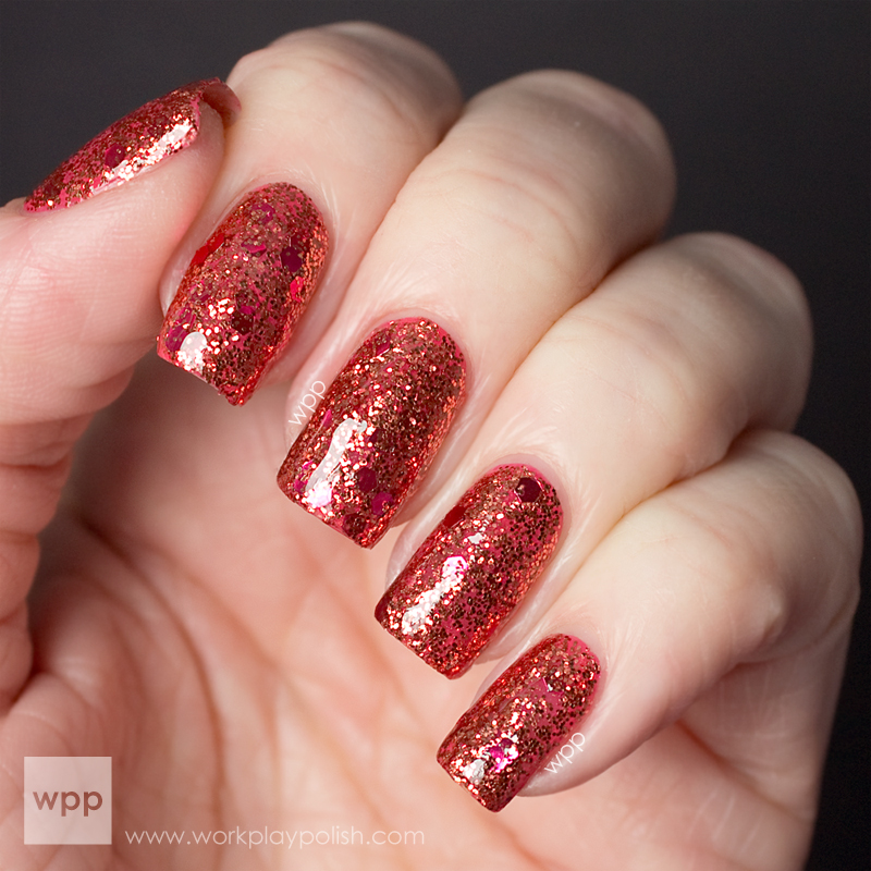 Hard Candy Fireflash over OPI I Mainley Eat Lobster