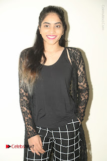 Actress Punarnavi Bhupalam Stills in Black Dress at Pittagoda Press Meet  0059.JPG