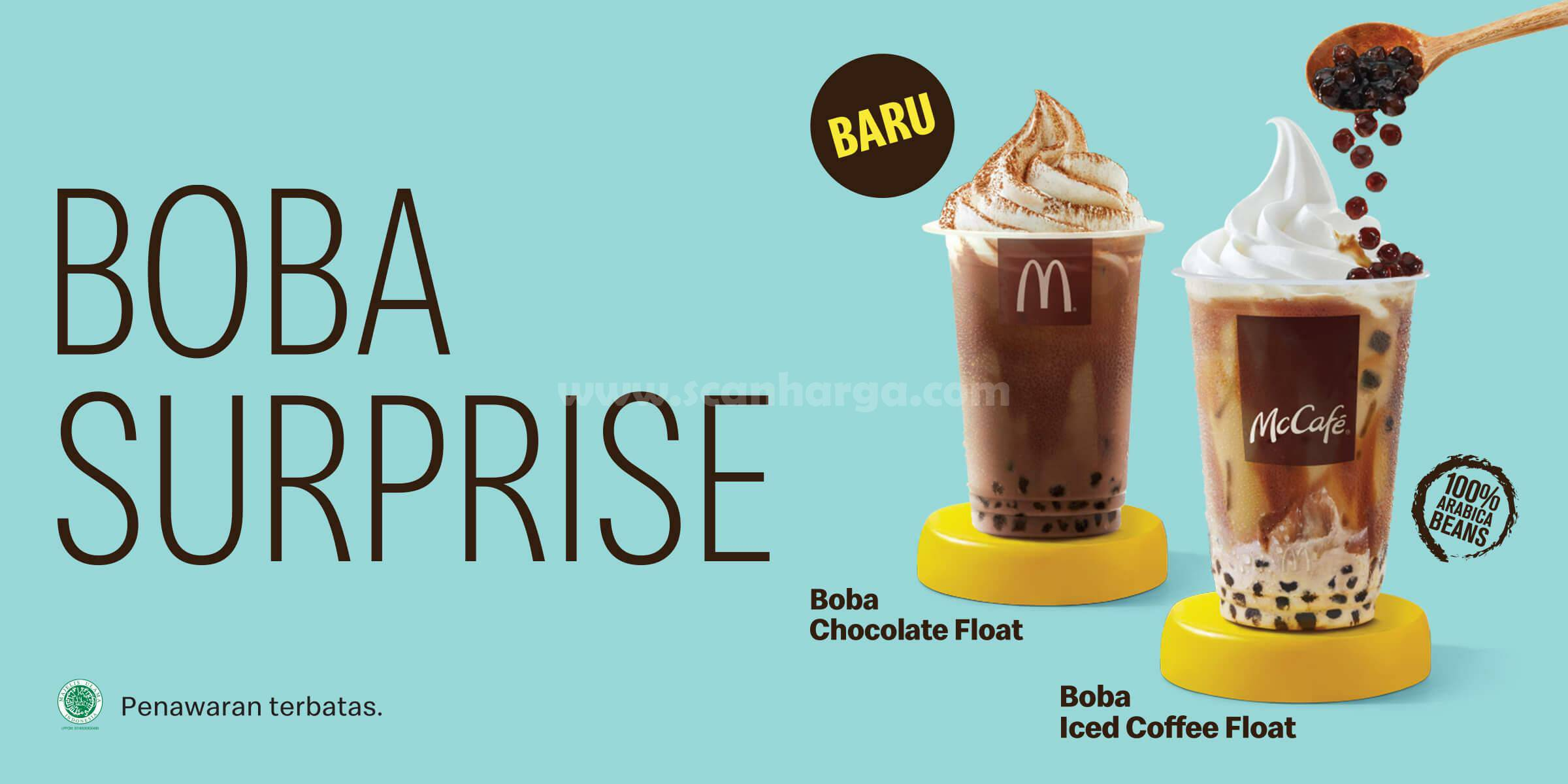 McDonalds BOBA Iced Coffee & Chocolate Float! Menu Baru dari McD