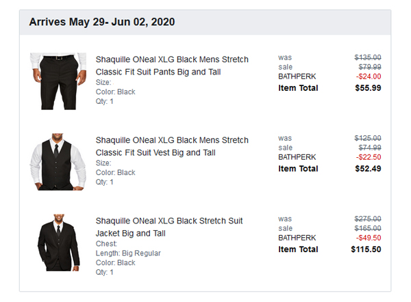 Shaquille ONeal Suit from JCPenney