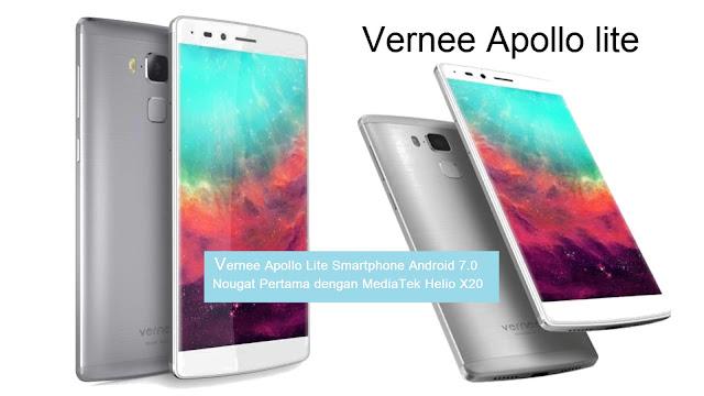 Vernee Apollo Lite Smartphone Android 7.0 Nougat Pertama dengan MediaTek Helio X20
