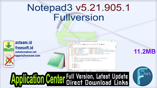Notepad3 v5.21.905.1 Fullversion