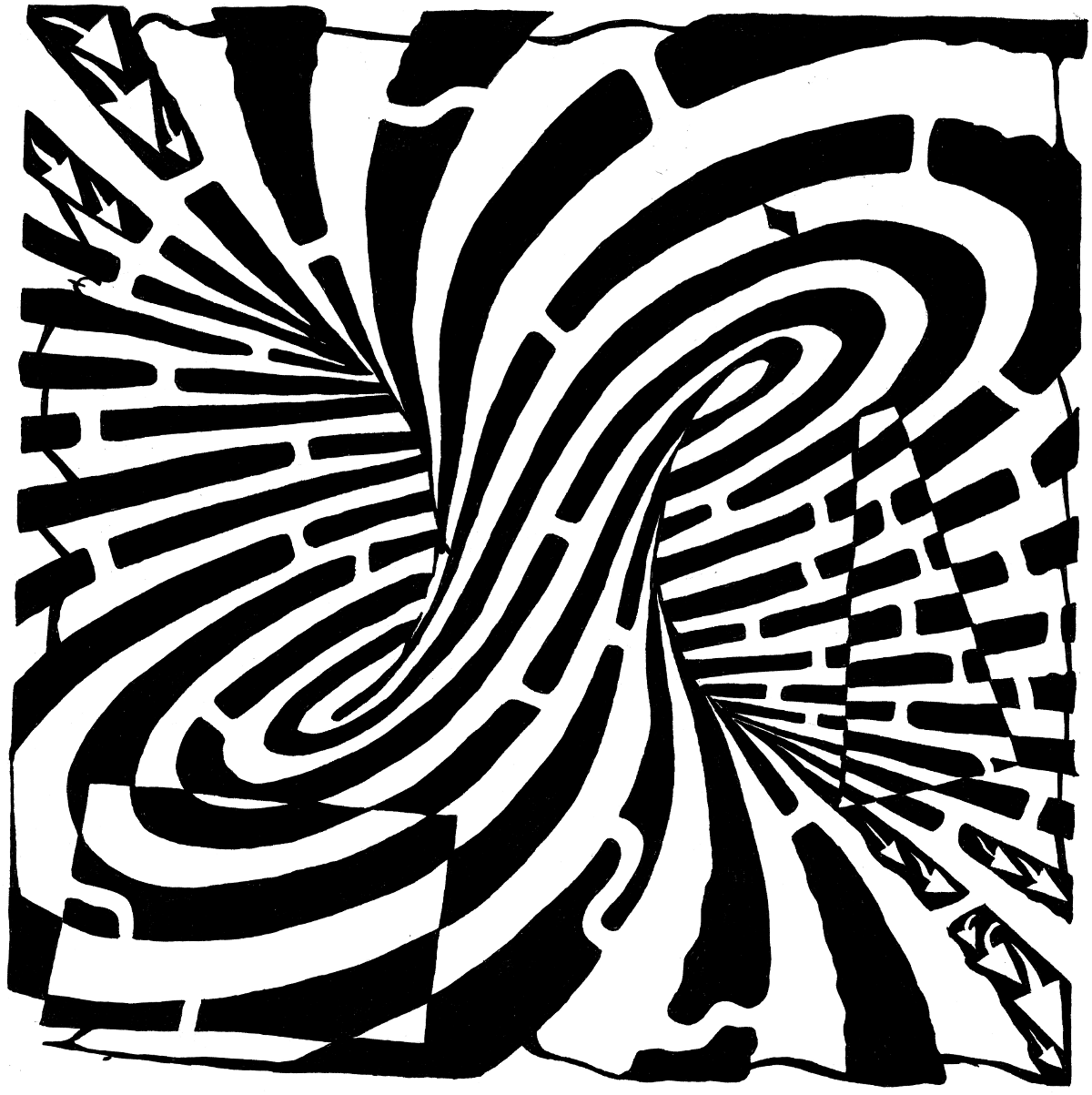 optical illusion illusions maze printable pretty simple eye drawing pages coloring mazes print create artist mobius strip die places before