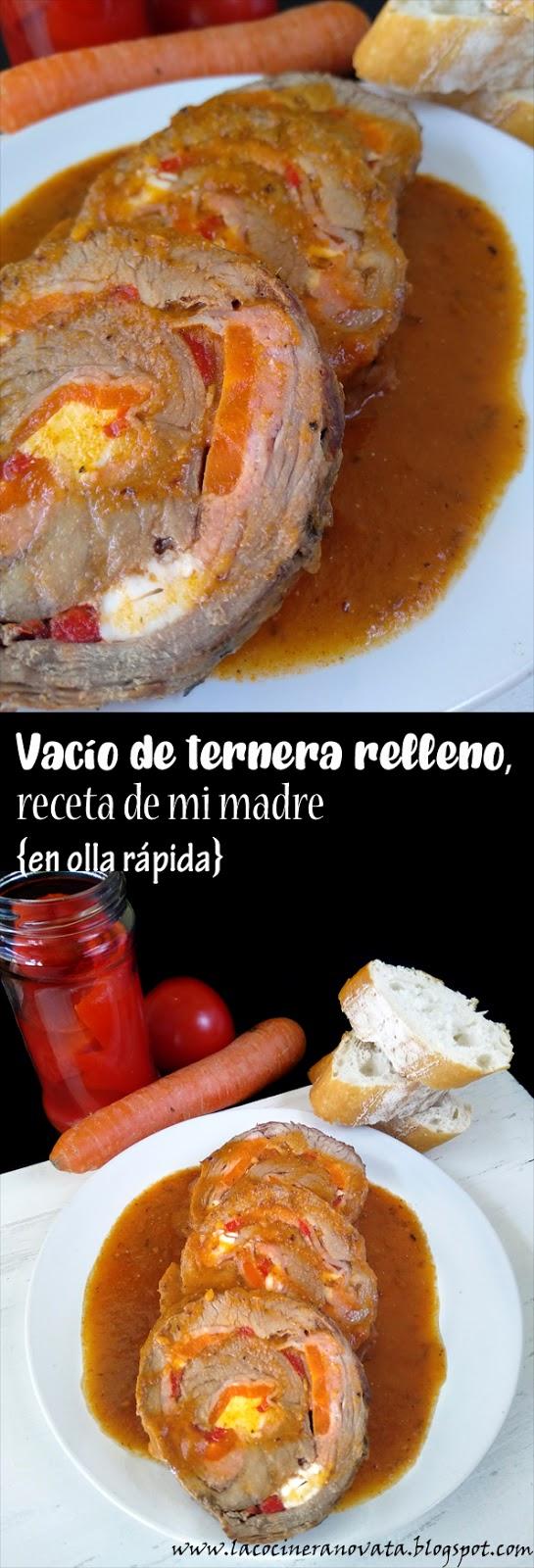 VACIO DE TERNERA RELLENO RECETA DE MI MADRE en olla rapida carne cocina tradicional casera homecooking