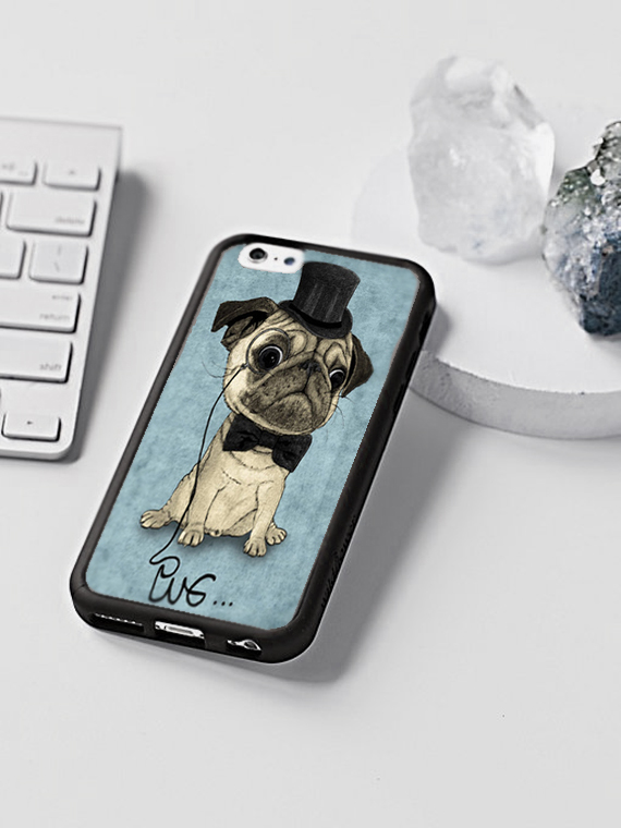 customized cases, pug design by Barruf