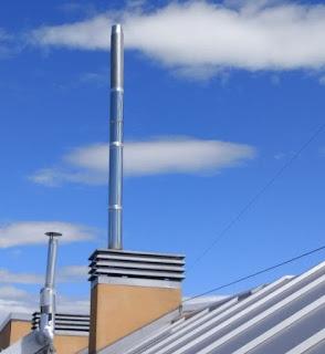 foto prolongación tubos chimenea en Madrid