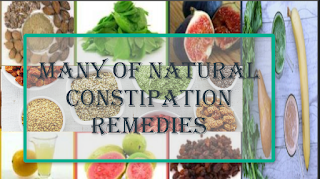 Many of natural constipation remedies
