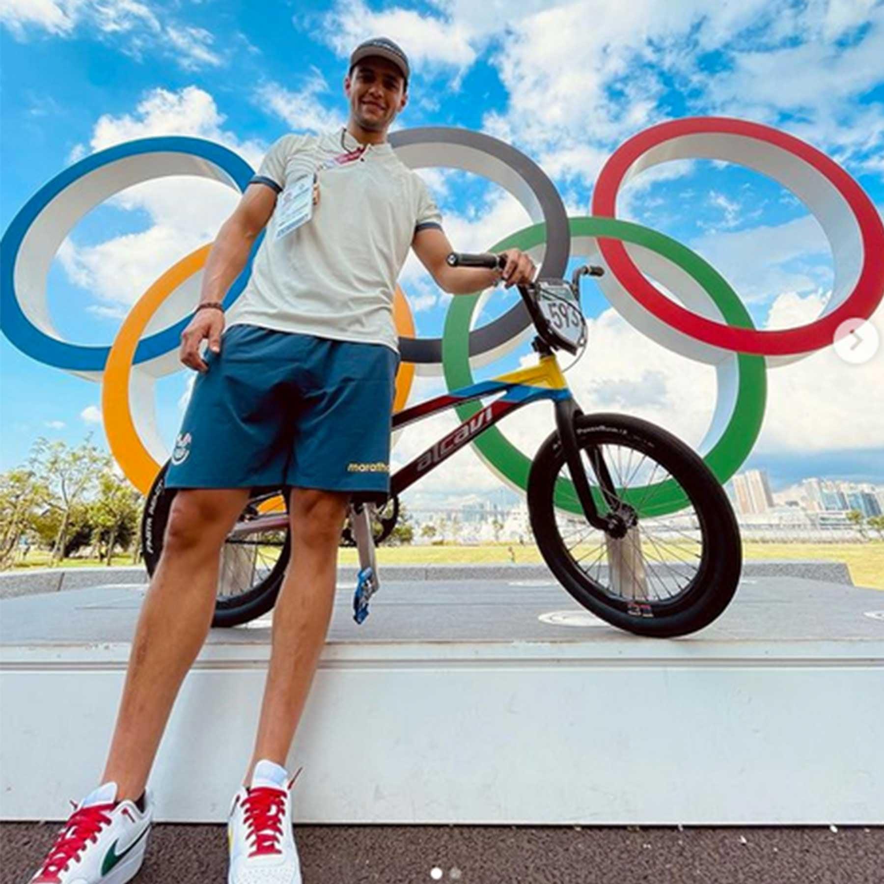 Alfredo Campo, un Dragón en las semifinales de BMX en los Juegos Olímpicos de Tokyo 2020
