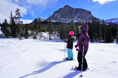 Snowshoeing at Beaver Mines Lake, Castle Provincial Park