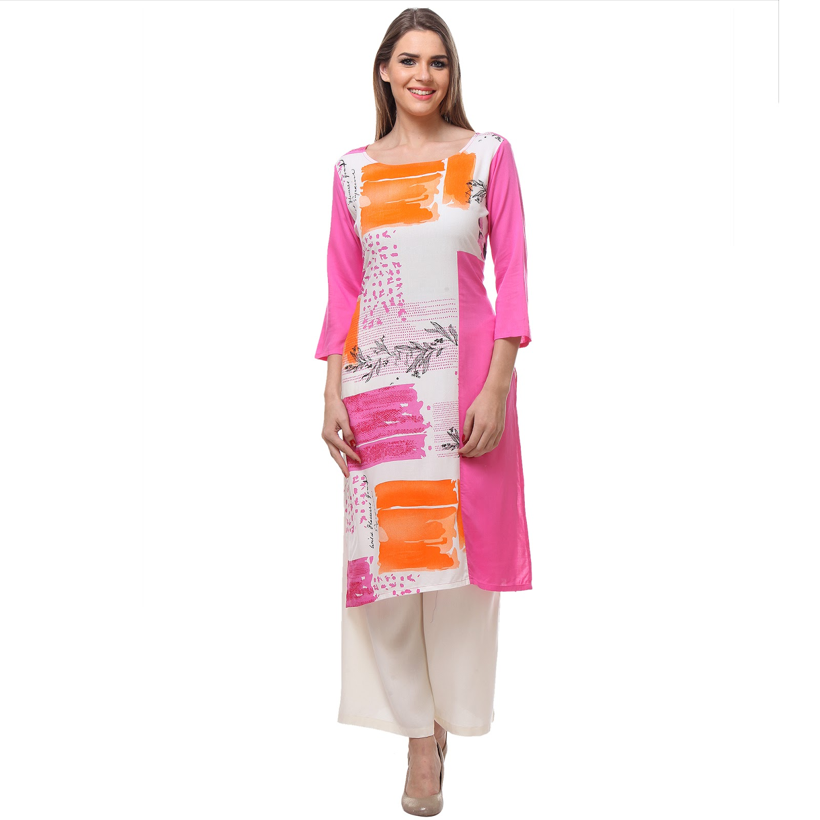 Rayon 14 – New And Stylish Printed Long Kurti