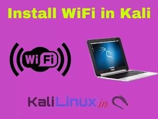 Install wifi in Kali Linux