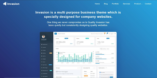 Invasion is a multi purpose business theme