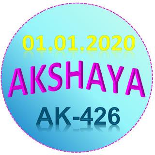 Kerala Lottery Result Akshaya AK-426 01.01.2020