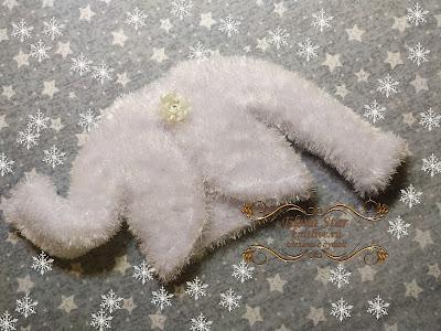 """Новогоднее болеро """"Снежинка"""" связано спицами из травки регланом сверху с круглой горловиной,  рост 98-116 см"""