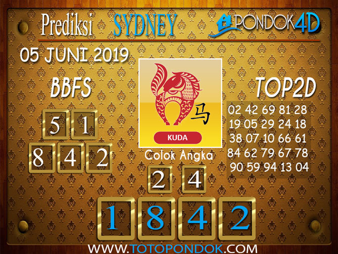 Prediksi Togel SYDNEY PONDOK4D 05 JUNI 2019