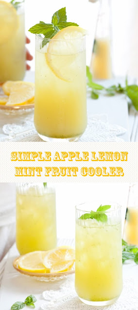 SIMPLE APPLE LEMON MINT FRUIT COOLER