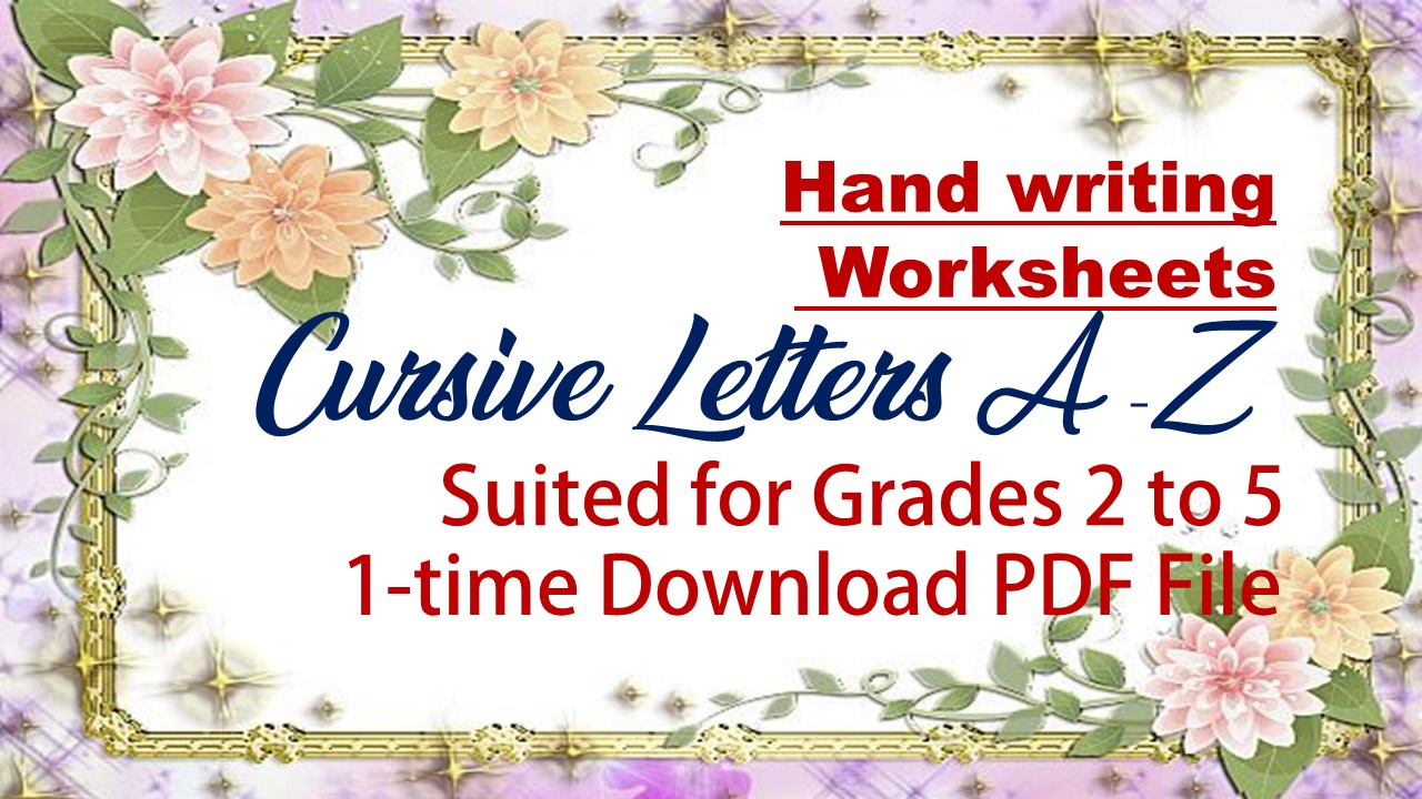 Hand Writing Worksheets ( Cursive Letters A-Z) - The Teacher's Craft [ 720 x 1280 Pixel ]