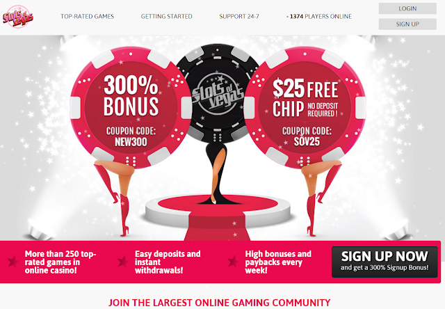 Slots of Vegas Casino Welcome offer