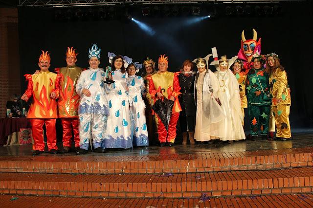 Cuadrilla premiada en el carnaval de Barakaldo