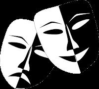 Tecknade teatermasker