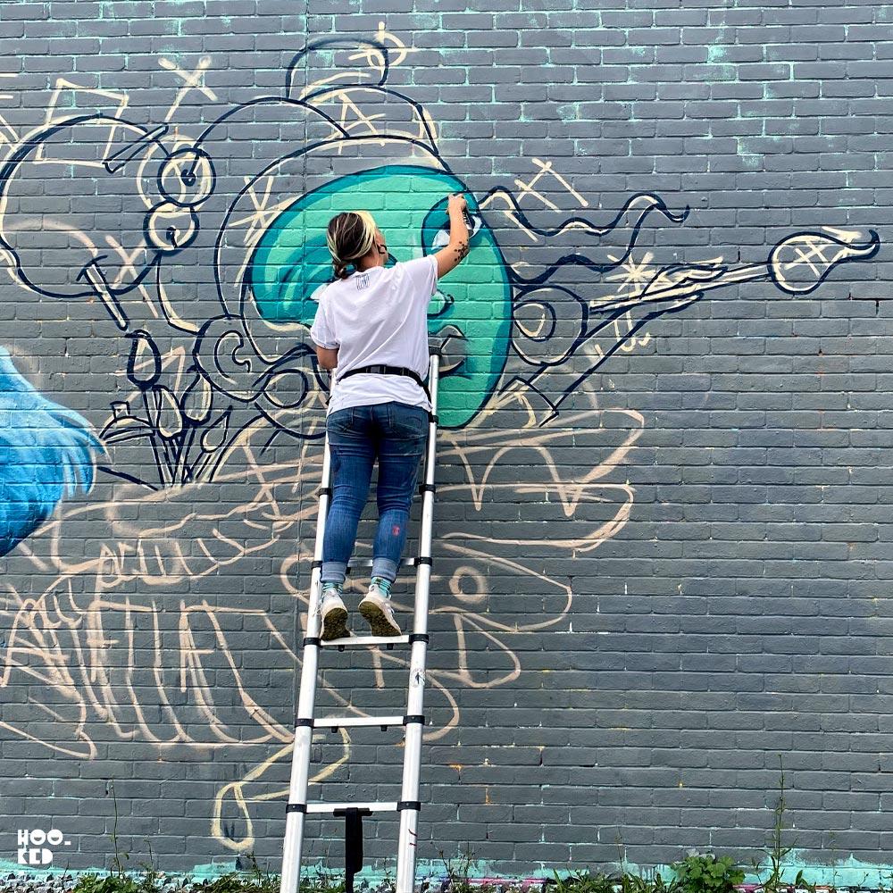 WOM Collective' Anniversary London Paint Jam in Allen Gardens, London