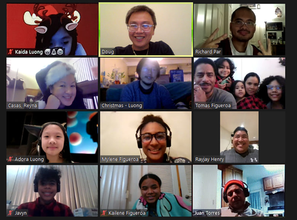 The official group photo from our Zoom Xmas party on December 20, 2020.