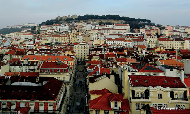 Lisboa vista do Miradouro Elevador de Santa Justa