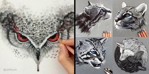00-Simon-Balzat-Colored-Pencils-make-Beautiful-Drawings-www-designstack-co