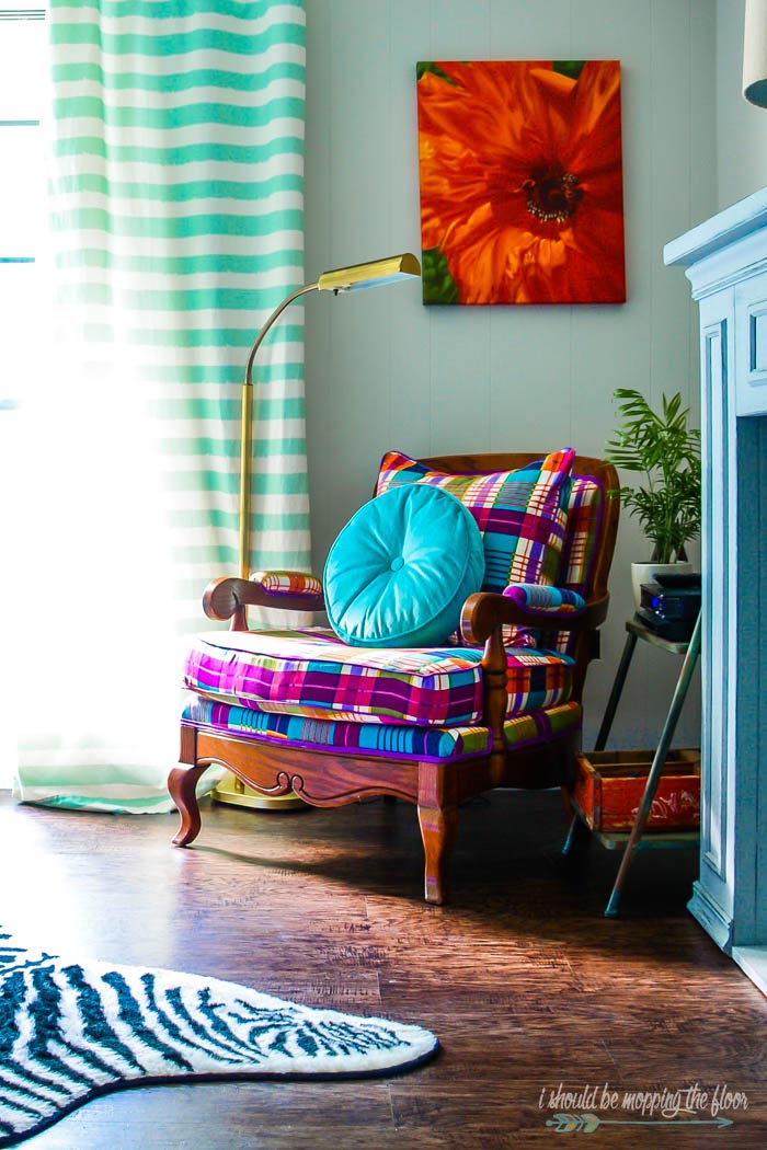 Colorful Plaid Arm Chair