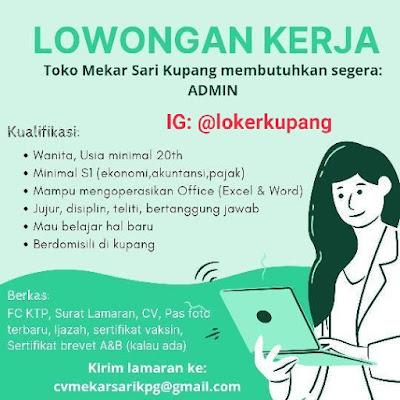 Lowongan Kerja Toko Mekar Sari Kupang Sebagai Admin