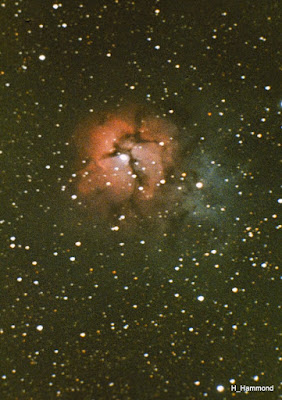 M20 - Trifid Nebula in Sagittarius  Imaged by Harry Hammond.