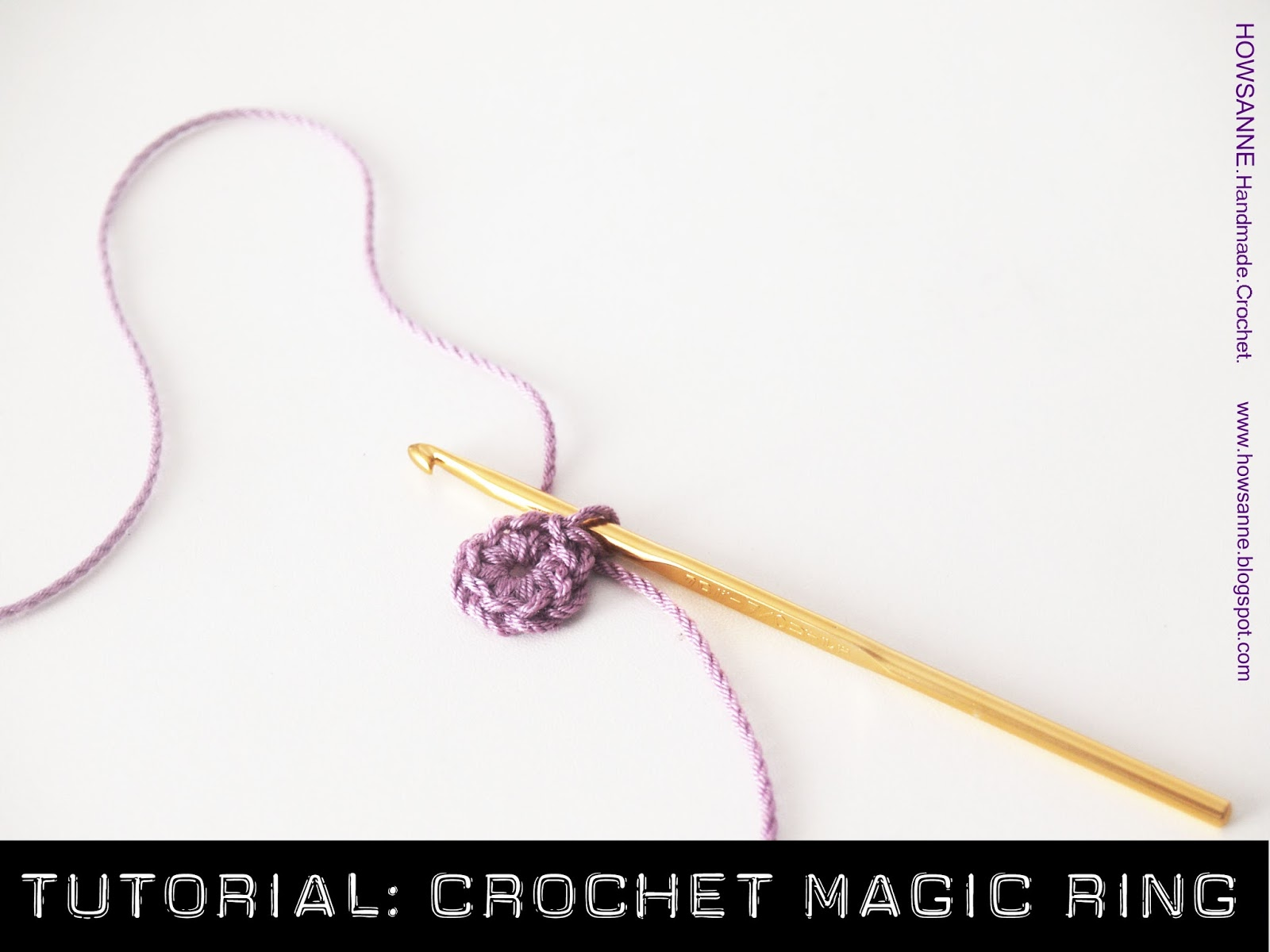 Howsanne handmade crochet tutorial how to crochet a magic ring howsanne handmade crochet magic circle step by step instruction with photo guide baditri Images
