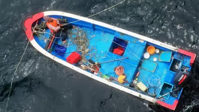 Nelayan Asal Tiongkok di Tengah Laut 11 Hari Bertahan Hidup Sampai Minum Air Senin Sendiri