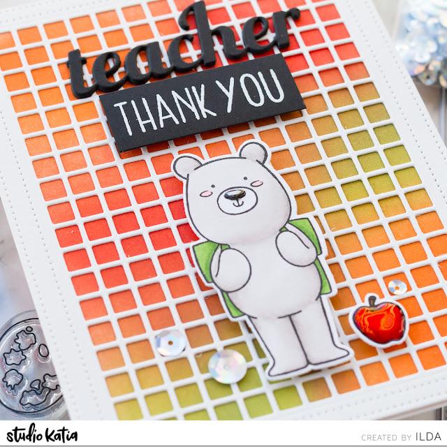 Simple Teacher Thank You Cards Done 3 Ways | Studio Katia by ilovedoingallthingscrafty.com