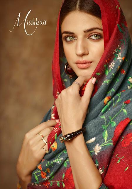 Sargam Print Mikshkaa Pashmina Collection Winter Salwar Kameez