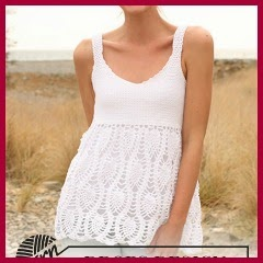 Top blanco a crochet