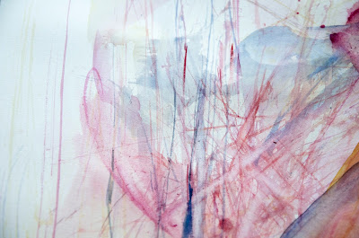 contemporary art, abstract expressionism, aquarelle, markmaking, scribble infused, art, painting