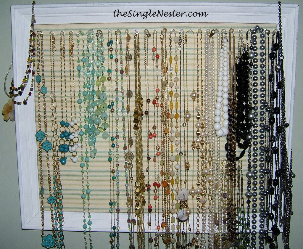Picture Frame Necklace Organizer - Revisited