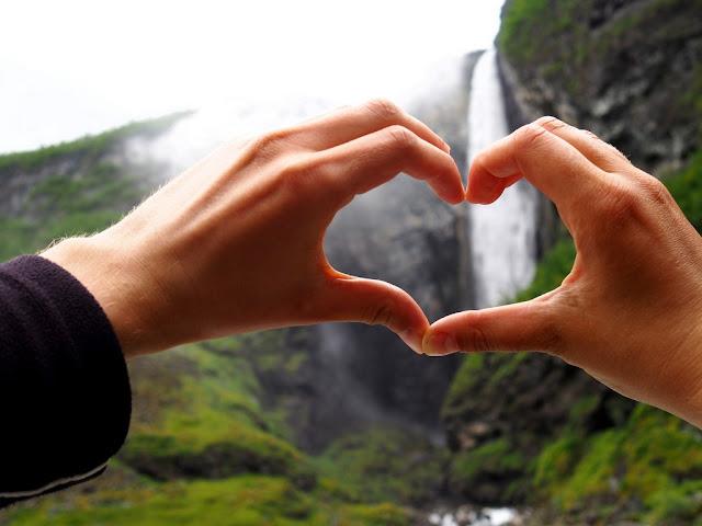 Vettisfossen, vodopád, přímý vodopád, Norsko, voda, příroda, Jotunheimen, láska, srdce