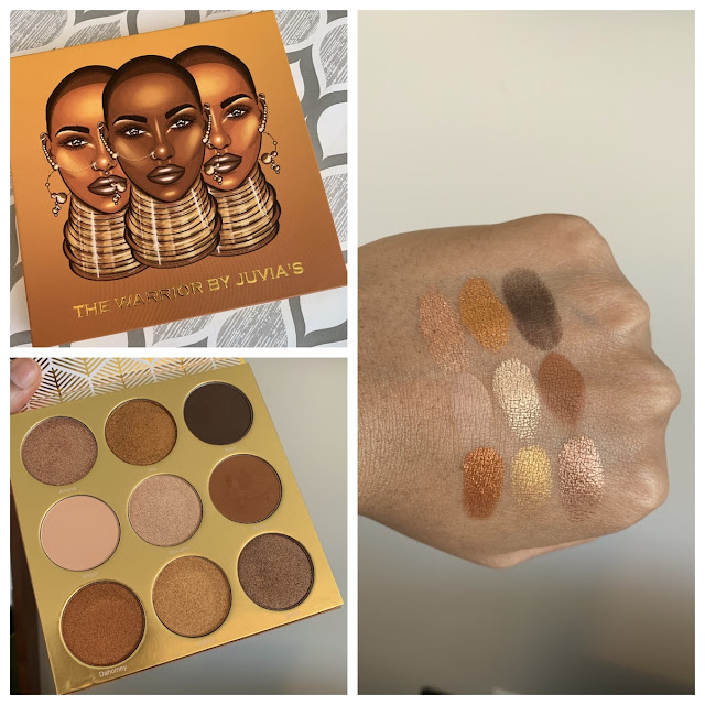Juvia's Place The Warrior Palette swatches on dark skin